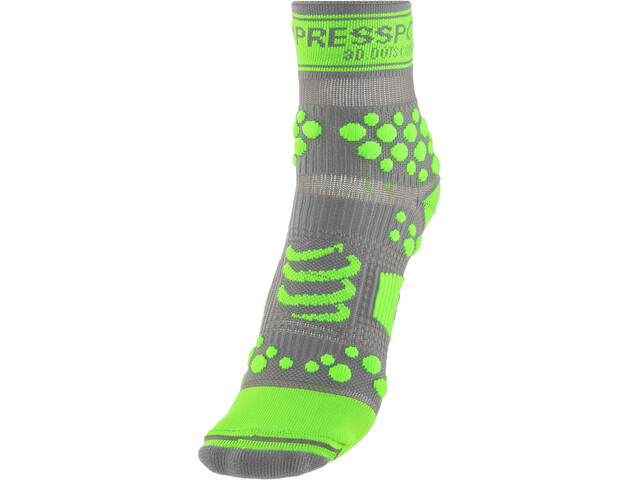 Compressport Racing V2 Trail Calze alte, grey/green